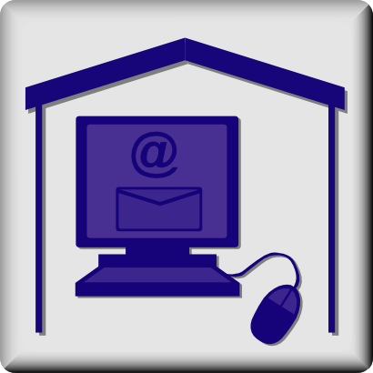 Download free mouse computer house courier mail icon