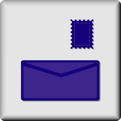 Download free courier mail stamp icon
