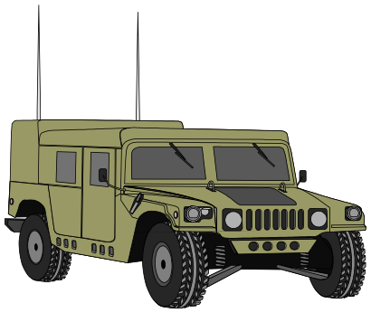 Download free transport car military icon