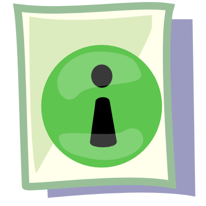 Download free letter sheet round green icon
