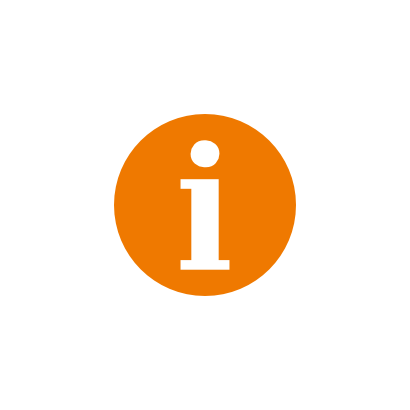 Download free orange text round icon