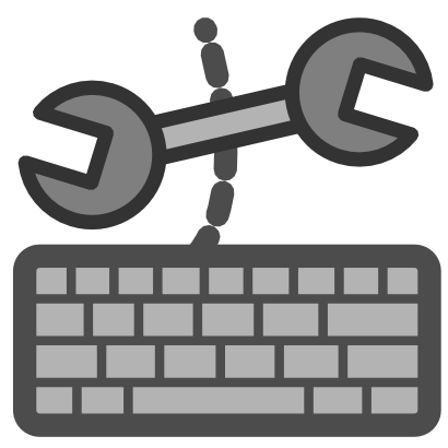 Download free key grey keyboard tool icon