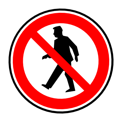 Download free red round prohibited person icon