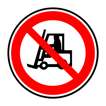 Download free red round prohibited transport truck icon