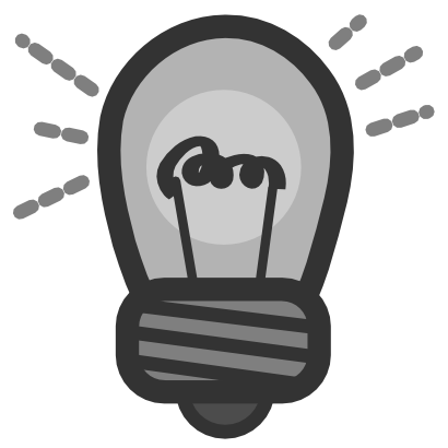 Download free grey bulb light icon