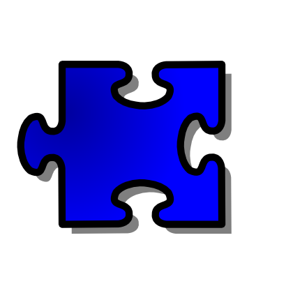 Download free blue puzzle icon