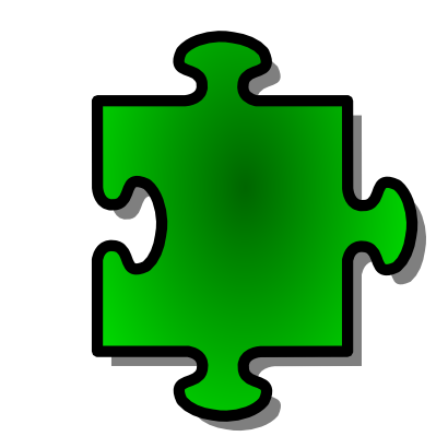 Download free green puzzle icon