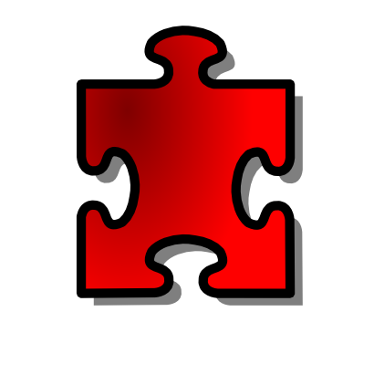 Download free red puzzle icon