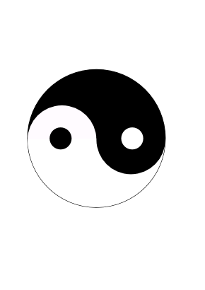Download free round black white yin and yang icon