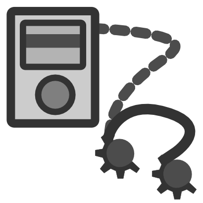 Download free music grey earphone icon
