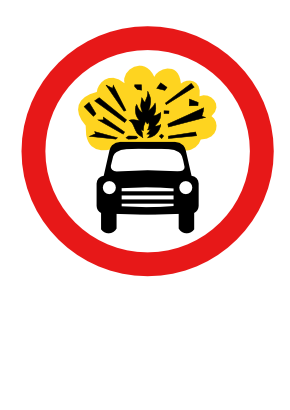 Download free red round flame transport explosion car icon