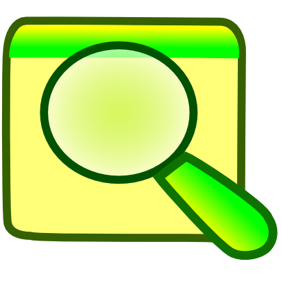 Download free yellow green square magnifying glass icon