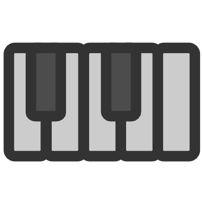 Download free music piano instrument icon