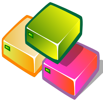 Download free orange green pink folder icon