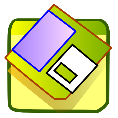 Download free green record floppy icon