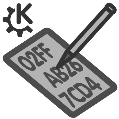Download free pencil text grey kde icon