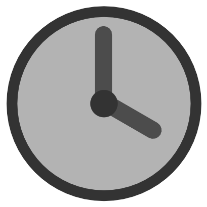 Download free grey clock hour needle icon