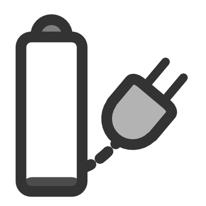Download free plug electric battery pile electricity icon