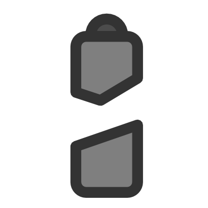 Download free grey battery pile icon