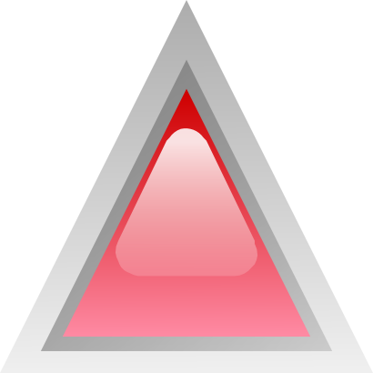 Download free red triangle icon