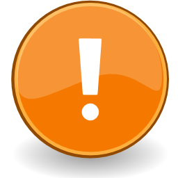 Download free orange round exclamation icon