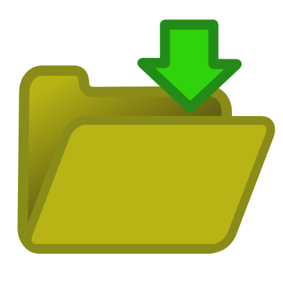 Download free arrow green folder icon