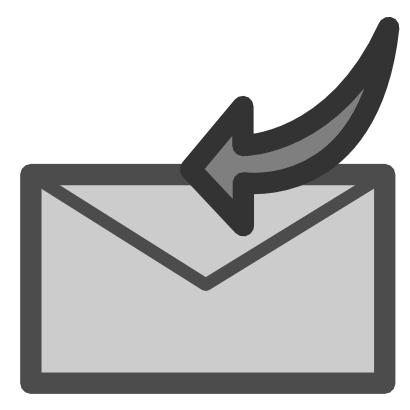 Download free letter grey arrow left email courier mail icon