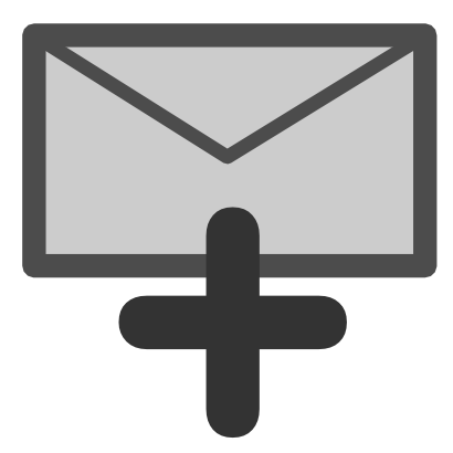 Download free letter grey cross email courier mail icon