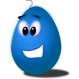 Download free blue food egg icon