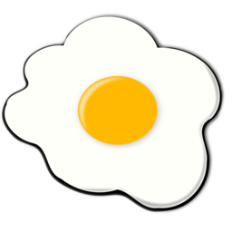 Download free yellow white food egg icon