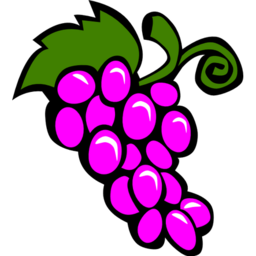 Download free violet food grapes cluster fruit icon