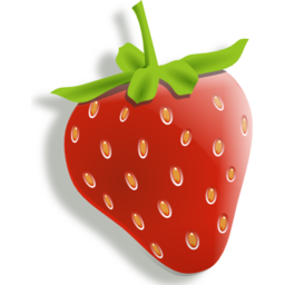 Download free red food strawberry fruit icon