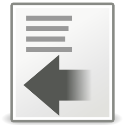 Download free sheet arrow left format icon