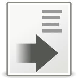 Download free sheet grey arrow right format icon