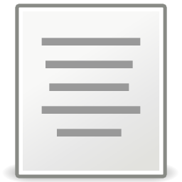 Download free sheet format justify center icon