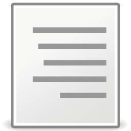 Download free sheet right format align icon