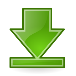 Download free arrow bottom green icon