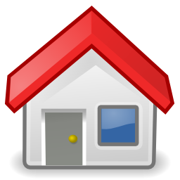 Download free red house roof icon