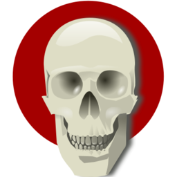 Download free red round skull icon