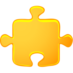 Download free yellow puzzle piece icon