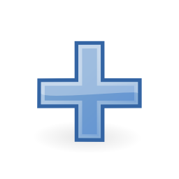 Download free blue cross more add icon