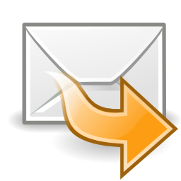 Download free yellow arrow right email message courier mail do follow icon