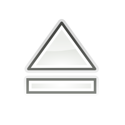 Download free grey arrow top media eject icon