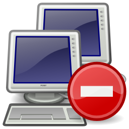 Download free network computer direction prohibited icon