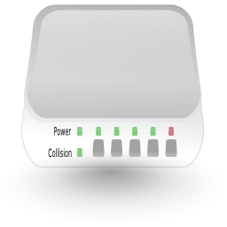 Download free network hub router icon
