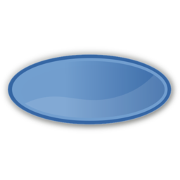 Download free blue oval icon