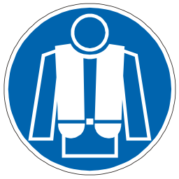 Download free blue round pictogram vest rescue icon