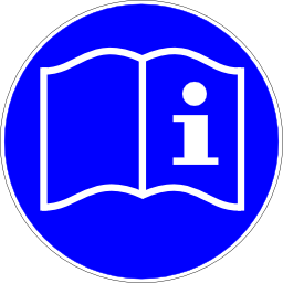 Download free blue book round pictogram information icon