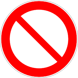 Download free red round pictogram prohibited icon