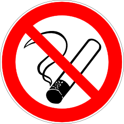 Download free red round pictogram prohibited cigarette icon